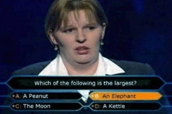 Who Wants to be a Millionaire Woman epic Fail