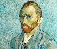 Vincent Van Gogh, Paisaje con gavillas de trigo y Luna ascendente, 1889