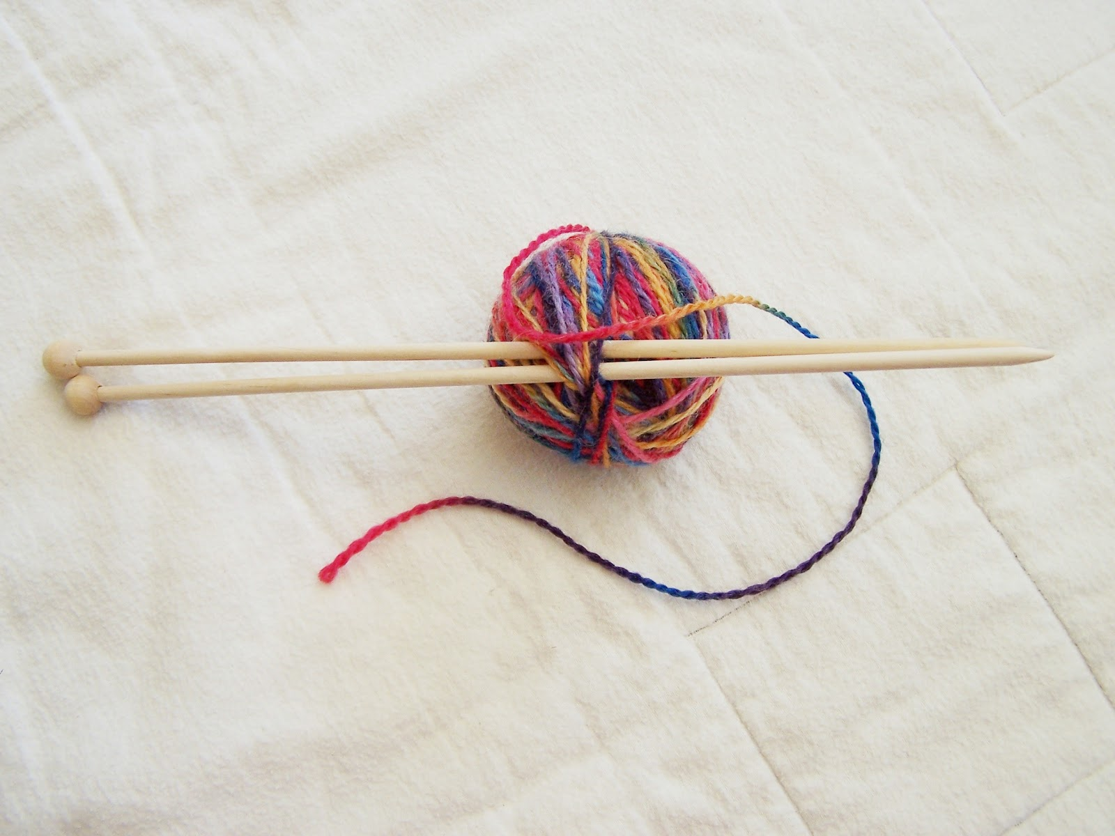 ... first step she taught them was how to make their own knitting needles