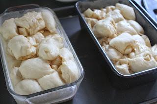 Assembled apple cinnamon loaves