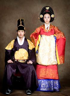 desain baju pernikahan korea