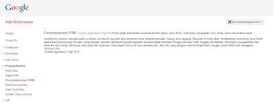 Penyempunaan HTML OM Kris blog