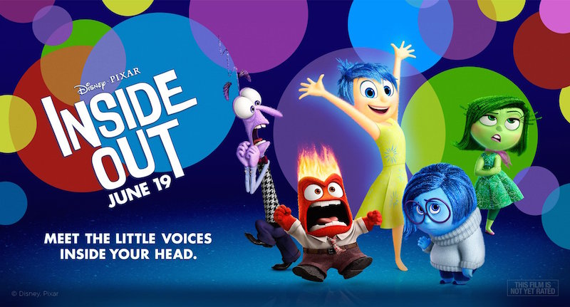 Inside Out (2015) Written and Directed by Pete Docter, Ronaldo Del Carmen Starring Amy Poehler, Phyllis Smith, Richard Kind, Bill Hader, Lewis Black, Mindy Kaling, Kaitlyn Dias, Diane Lane, Kyle MacLachlan