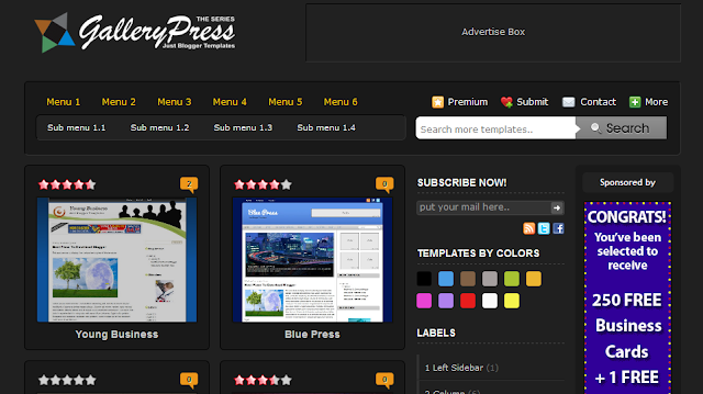 Black Gallery Press - Web Design Blogger Template