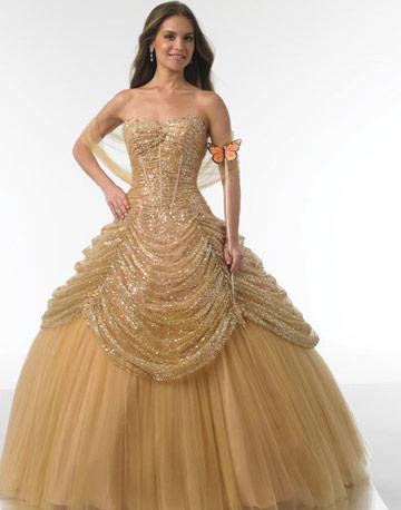 wedding dress gold color - Gold Color Dress