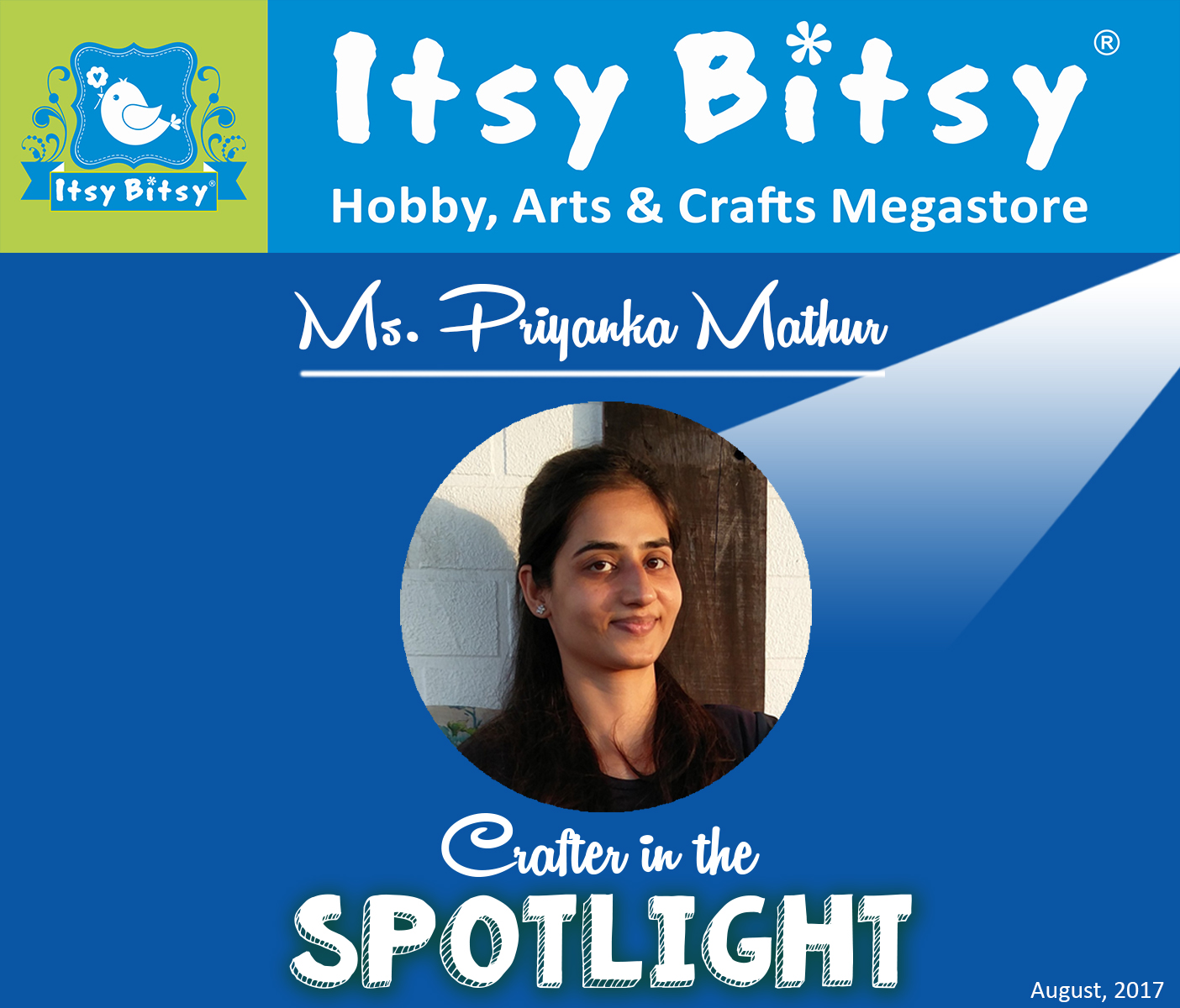 Itsy Bitsy August 2017 - Crafter in Spotlight