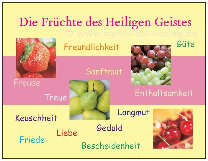 Die Früchte des Hl. Geistes