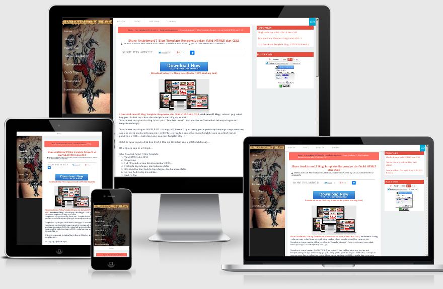 tampilan posting -Anaktimor17 Blog Template-Responsive dan Valid HTML5 dan CSS3