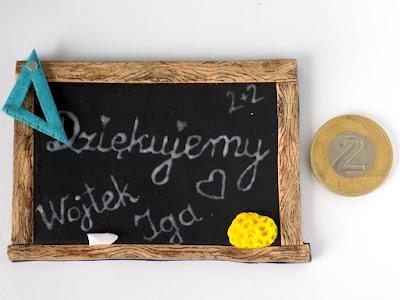 prezent, tablica, dzień nauczyciela, koniec roku