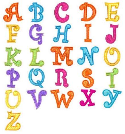 Z Alphabet Images graffiti fonts curly graffiti style alphabet letters a through z color