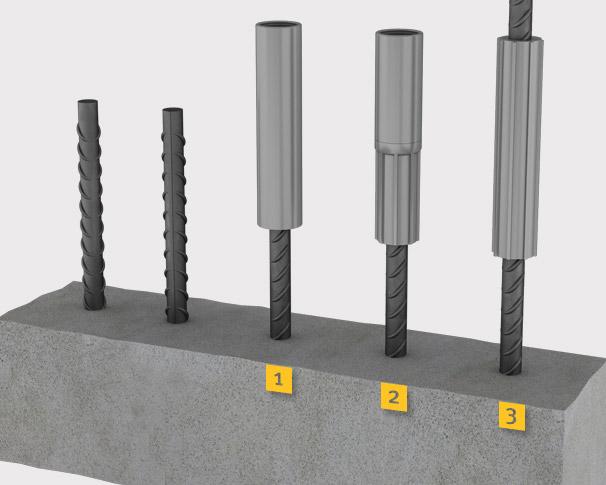 Reinforcing Steel Couplers : Structural engineer ger rebar coupler