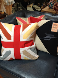 Colorful Union Jack Throw Pillows