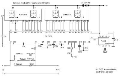 Digital Ampere Meter Circuit Diagram | Electronic Schematic Diagram Wiring Diagram Circuit Diagram
