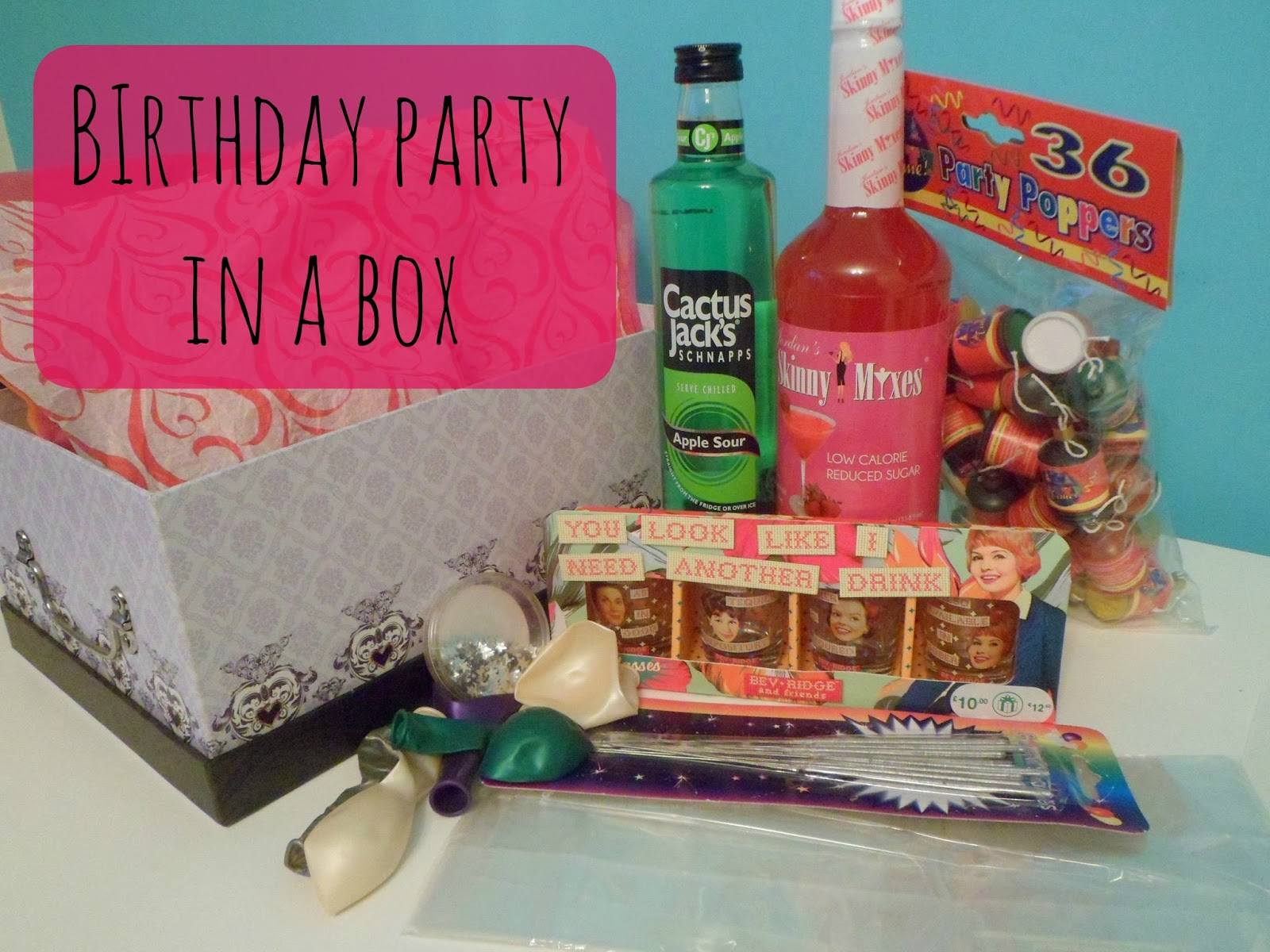 Beauty By A Geek Diy Birthday Party In A Box Gift Idea