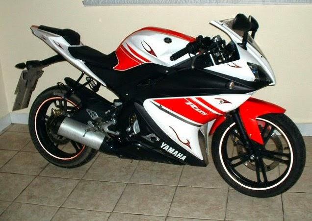 foto modifikasi vixion ala motoGP putih-merah