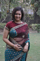 Lakshmi Ramakrishnan in Transparent saree