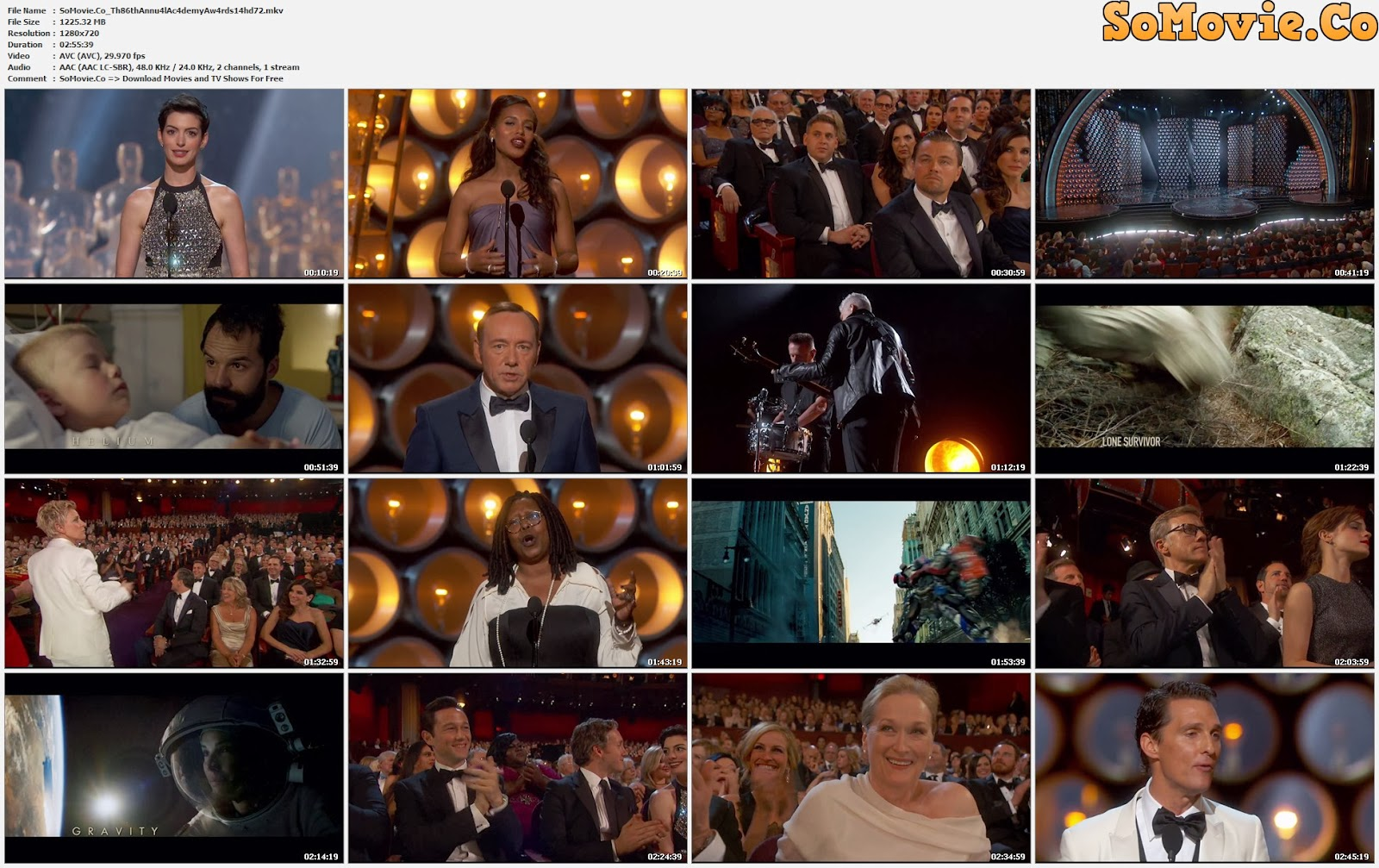 movie screenshot of The 86th Academy Awards fdmovie.com
