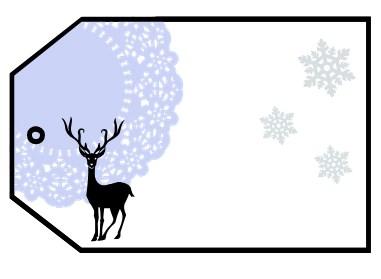 étiquette cadeau de Noël