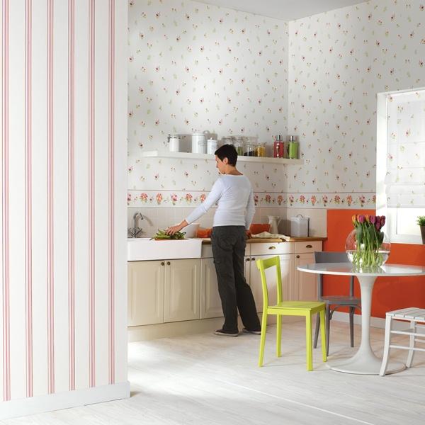 Papel pintado papel pintado cocina delices - Papel para cocinas ...