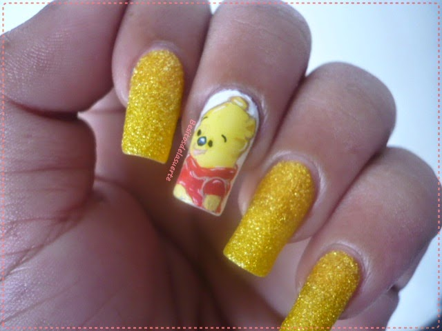 Nail Art Caricatura Winnie Pooh Baby