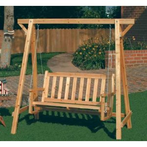 Garden swing for adults - Como hacer columpios de madera ...