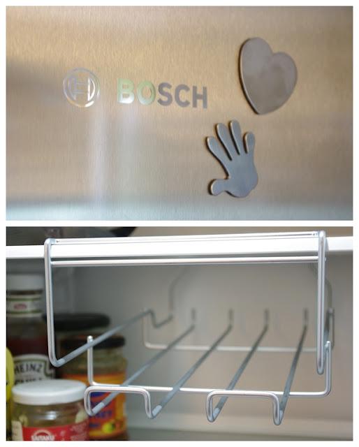 Bosch kombiskap i rustfritt stål