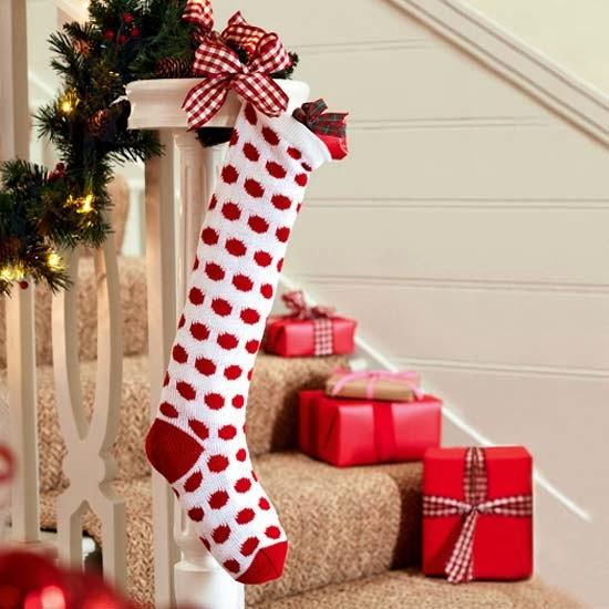 Рождественский носок для подарков своими руками
