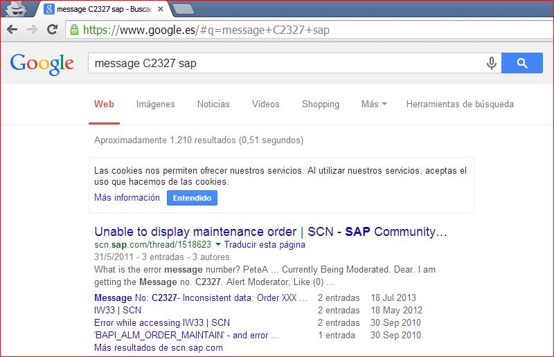 Búsqueda Google de SCN