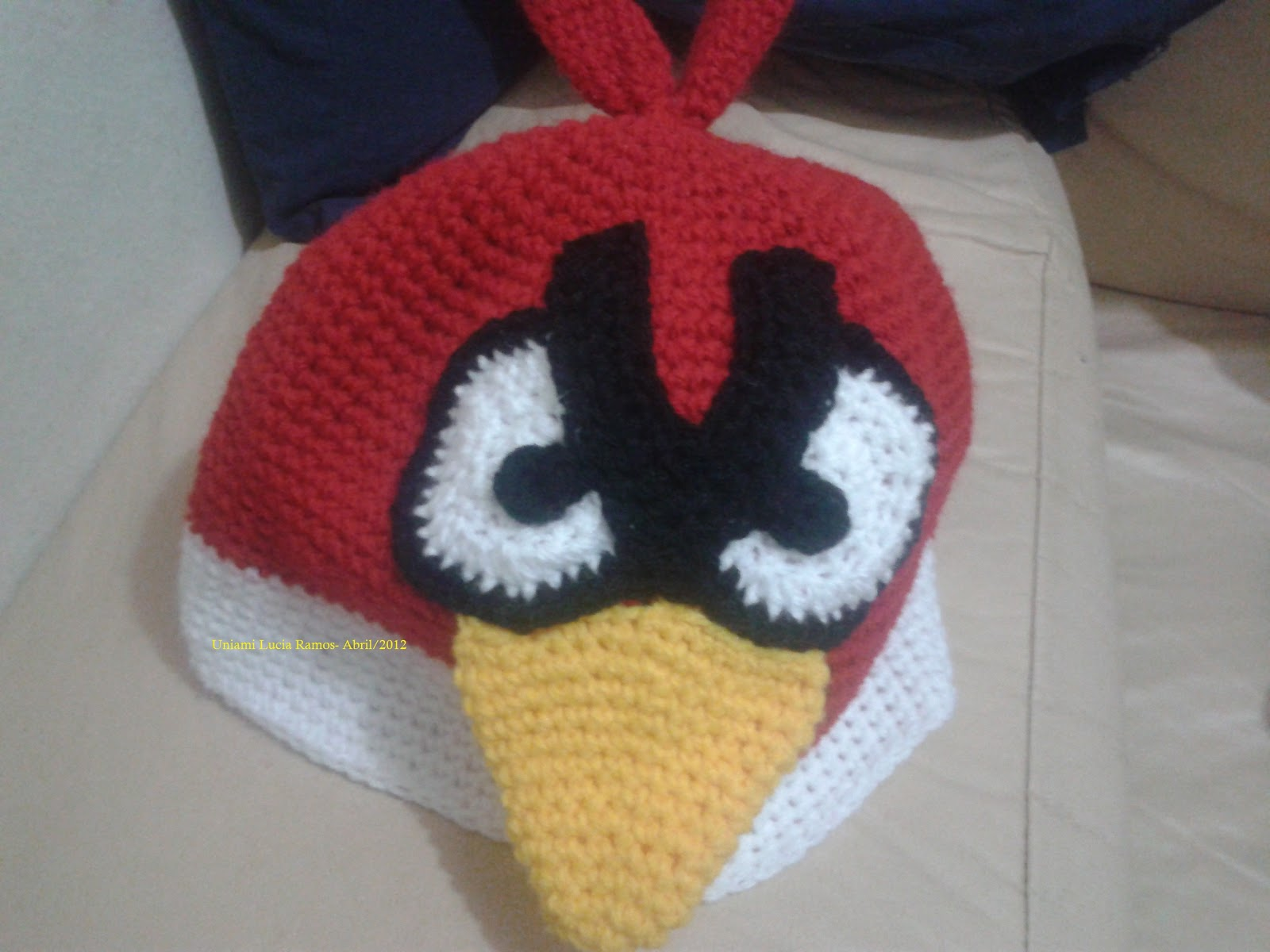 Red Angry Bird Crochet