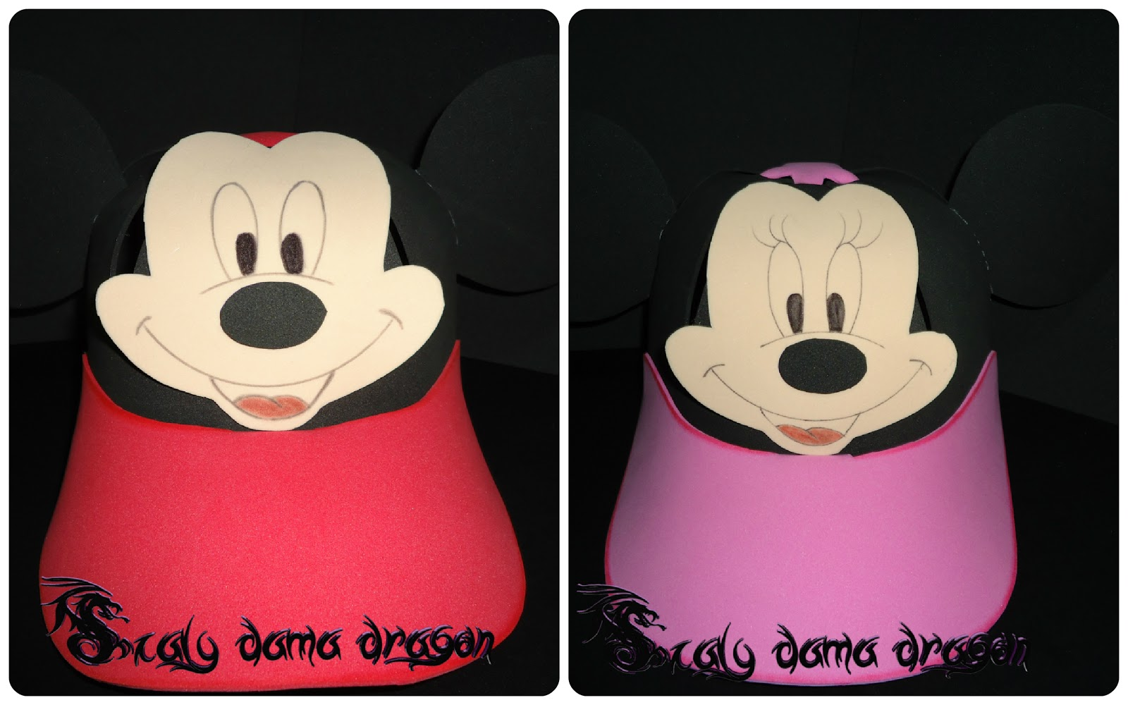 Gorras De Foamy Goma Eva De Minnie Y Mickey Mouse Diy