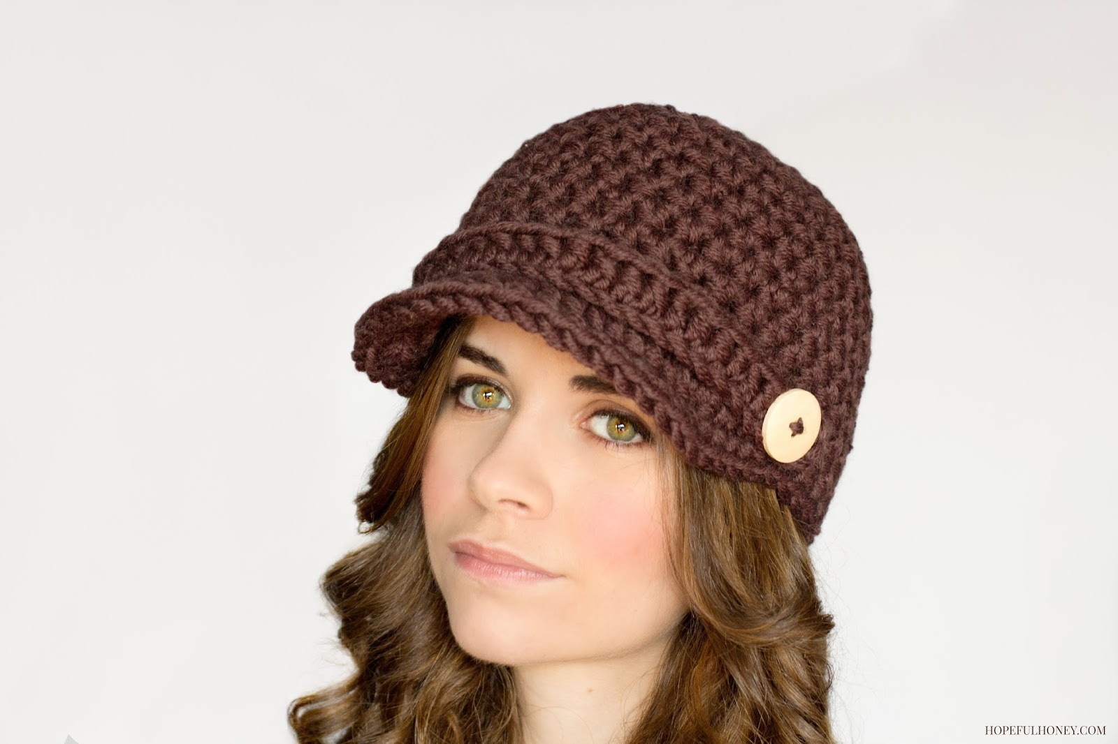 Free Crochet Pattern Toddler Newsboy Cap : Hopeful Honey Craft, Crochet, Create: July 2014