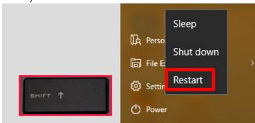 Safe Mode set up in Windows 10