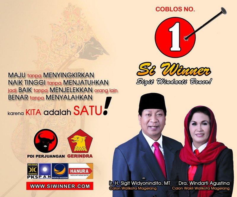 Calon Walikota & Wakil Walikota Magelang 2015-2020 Sigit Widyonindito-Windarti Agustina Pilkada 2015