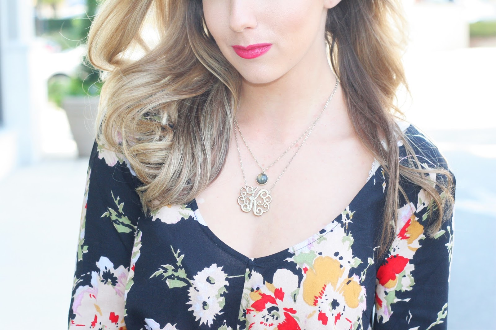 Delicate-necklace-layers-with-monogram