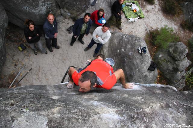 David attrape les Sabots d'Hélène, 7A, au 95.2, Trois Pignons, (C) 2015 Greg Clouzeau