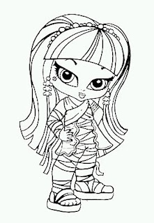 Monster High, Dibujos de Cleo de Nile para Pintar
