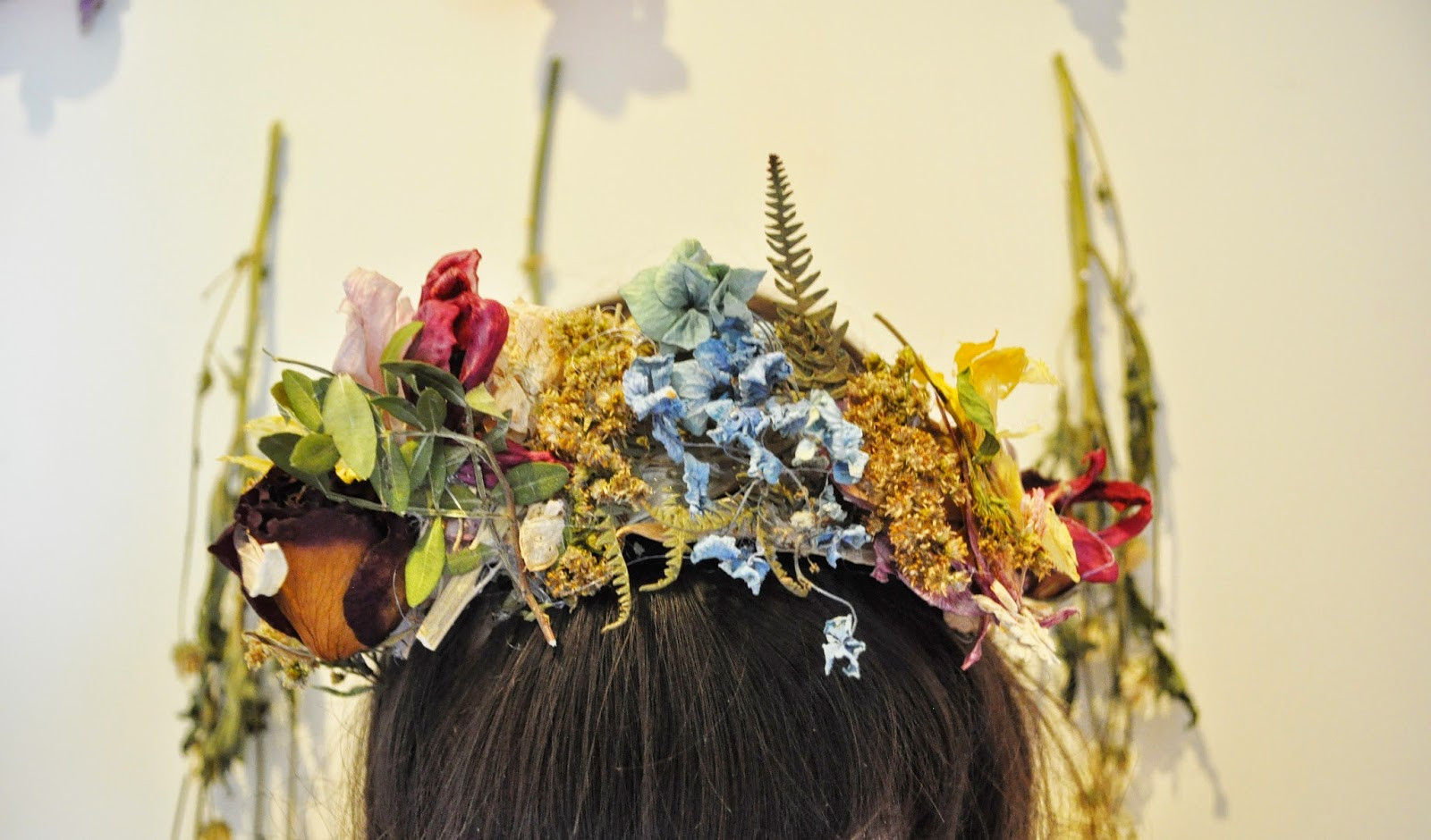 The Pale Female Dried Flower Crown A Bank Holiday Diy