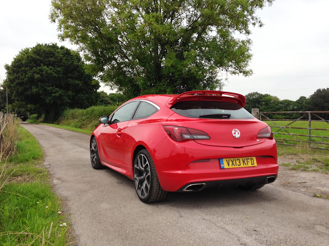 Vauxhall Astra VXR from the rear