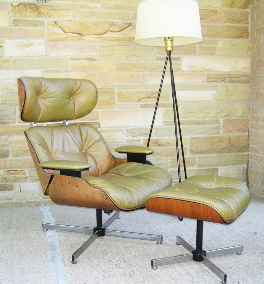 gotcha modern vintage selig mid century lounge chair the eames alternative. Black Bedroom Furniture Sets. Home Design Ideas