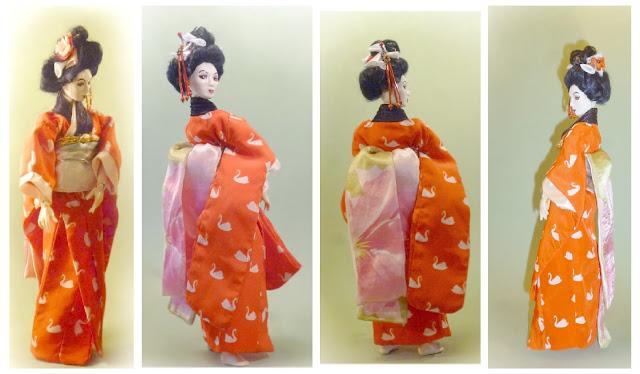 muñeca de porcelana argentina ball jointed doll artesanal geisha