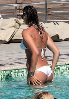 Veronica Angeloni hot ass in white bikini