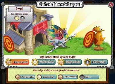 imagen de los ataques del dragon arco iris