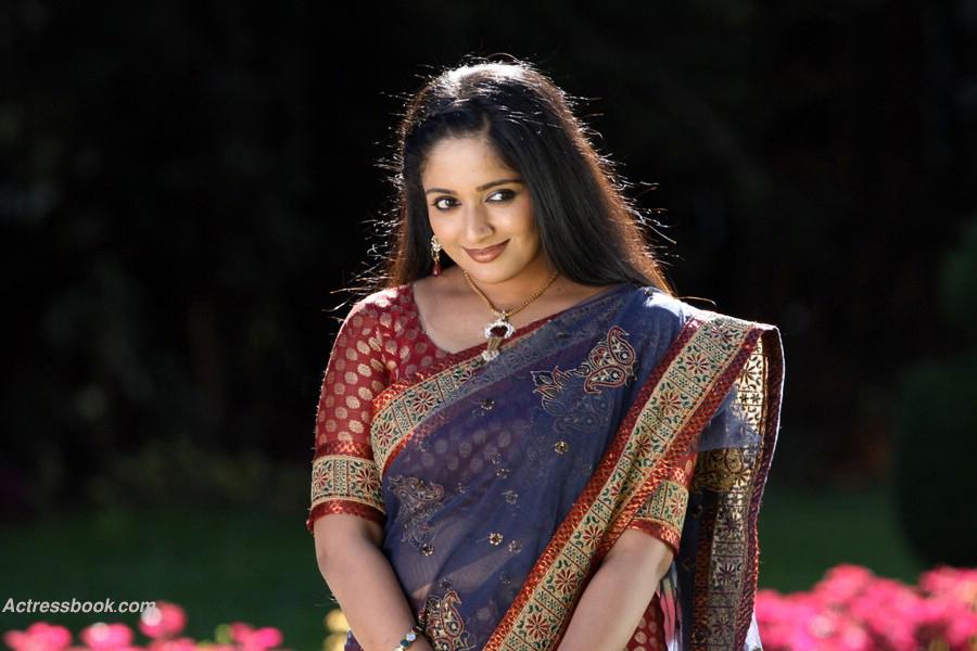 Kavya Madhavan in Saree Kavya Madhavan Saree Side