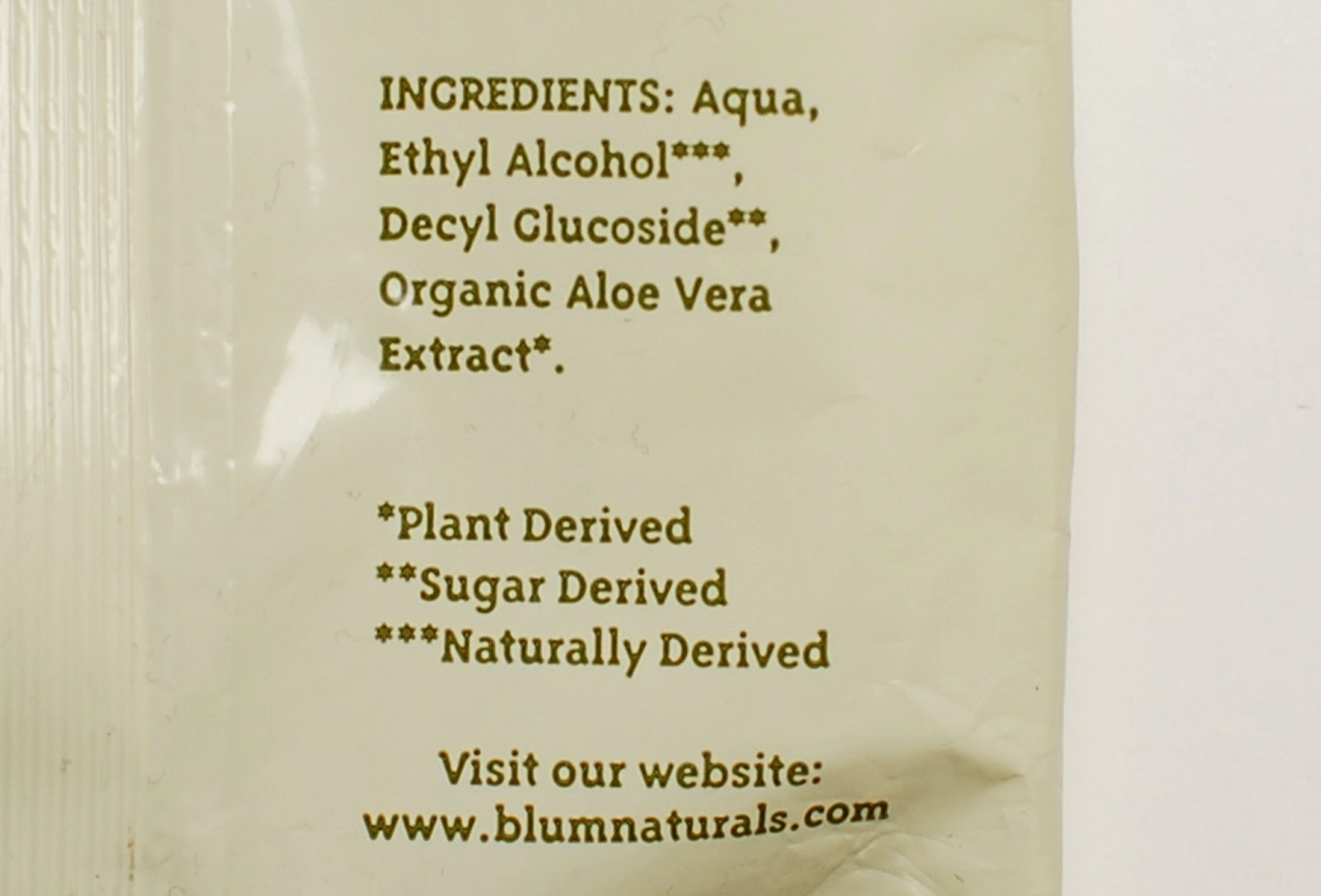 Blum Naturals All-Purpose Cleansing Wipes Ingredients