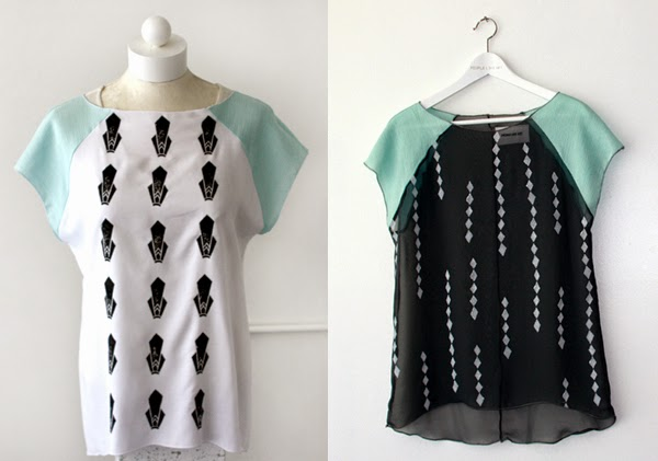 Handmade, handprinted clothing by People Like Art