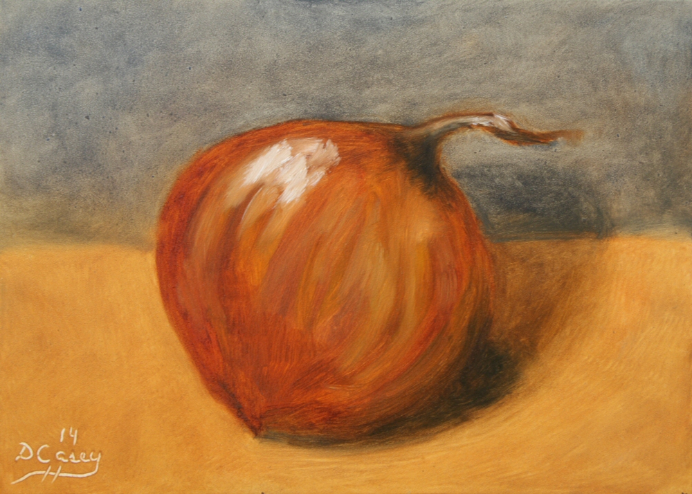 Kitchen Painting - Onion 001a 5x7 oil on gessobord - Dave Casey - TheDailyPainter.jpg
