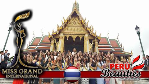 Candidatas visitan el Palacio Real y Templo Buda de Esmeralda - Miss Grand International 2015