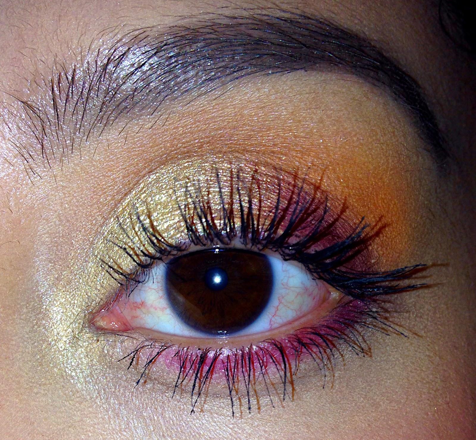 Summer/golden eye look using the ELF prism palette