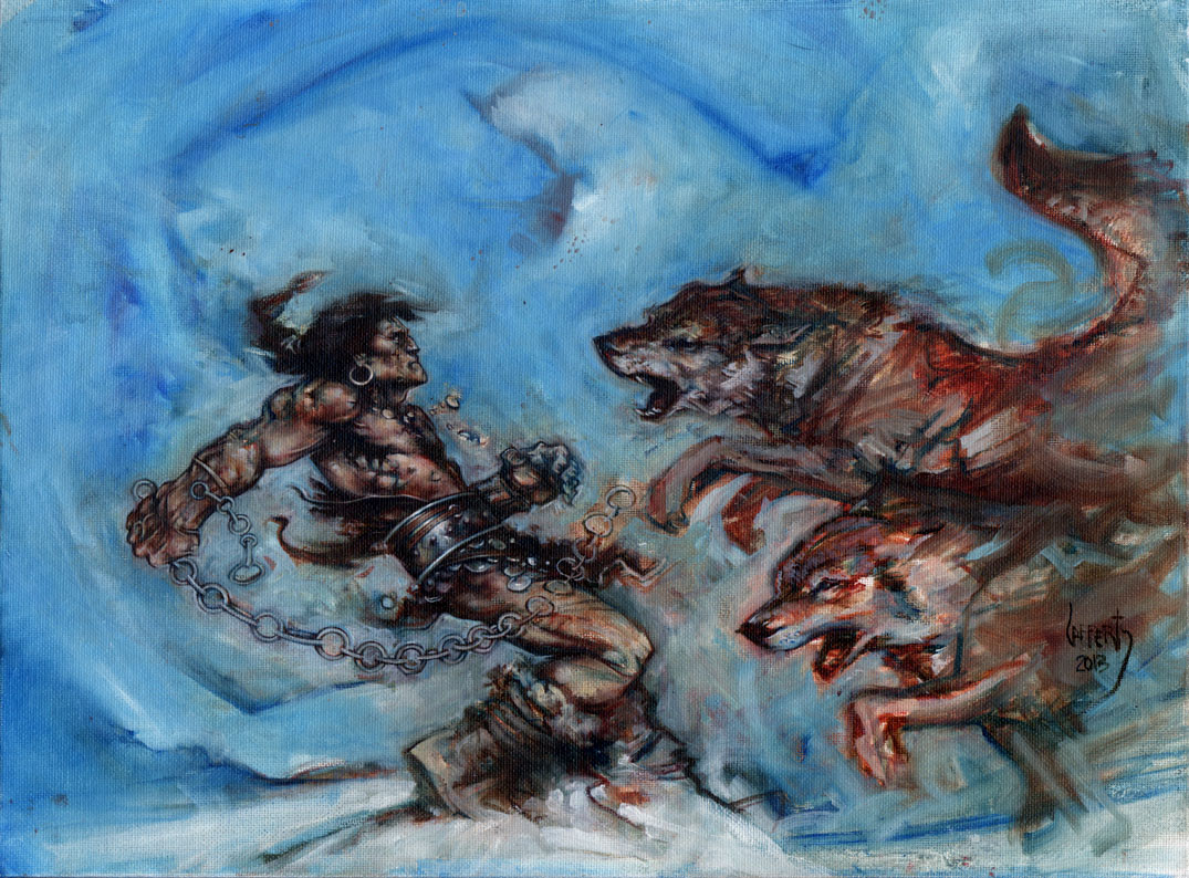 Conan And The Wolves, Artwork© Jeff Lafferty 2014