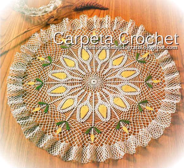 Carpeta crochet con molde